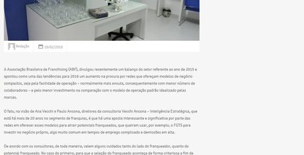 Franquias compactas são aposta para 2016. ORTOPLAN na Mídia.